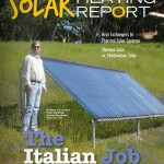 """image of Bill Shady on cover of PM News Solar Heating Report"""